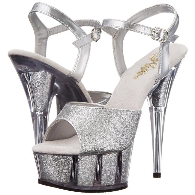 DELIGHT-6G sandales à plateforme argent pleaser taille 35 - 36